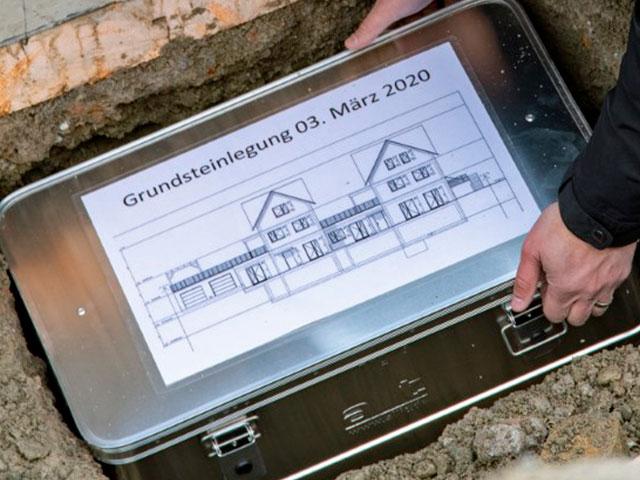 Grundsteinlegung in Knonau vom 3. März 2020