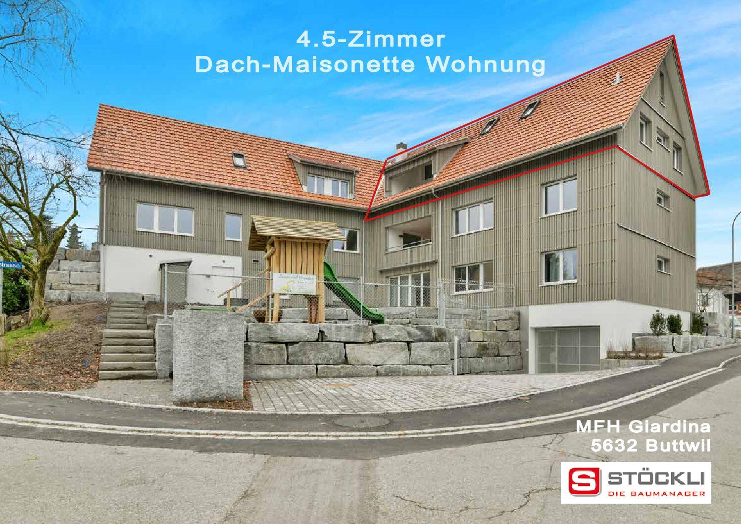 4.5-Zimmer Dach-Maisonettewohnung, Buttwil