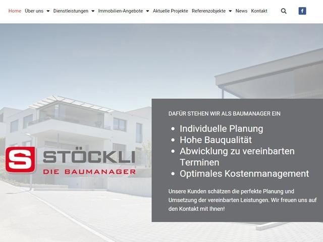 Neugestaltung Homepage Stöckli Baumanagement AG